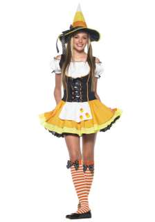 Teen Candy Corn Witch Costume   Kids, Tween Halloween Witch Costumes