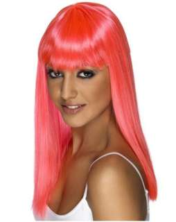 Womens Glamarama Wig   Neon Pink  Wigs Multi Color Hats, Wigs