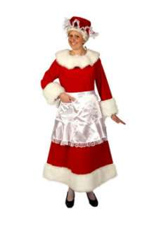 Womens Red Velvet Mrs Claus Costume  Cheap Christmas Womens Costumes