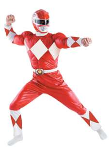 Mens Red Muscle Chest Power Ranger Costume Xl  Cheap SuperHeroes