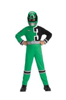 Green Power Ranger includes full body jumpsuit with belt attached, 3