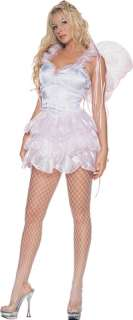 layered skirt, includes glitter flower wings. Adult size Medium (5 7