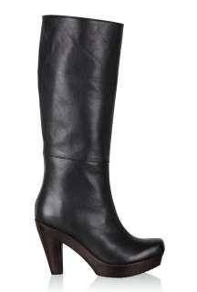 Heel Knee Boot by Scholl   Black   Buy Boots Online at my wardrobe