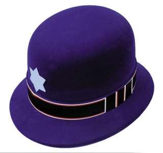 Adult Keystone Cop Hat   Keystone Cop Hat   Plastic, flocked blue hat