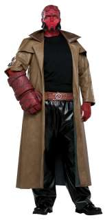 Hellboy Plus Adult Costume   Includes character headpiece, long faux