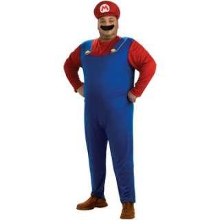 .   Mario Plus Adult Costume   Includes Jumpsuit, hat and moustache
