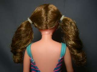 1969 Brunette SAUSAGE CURL Twist N Turn SKIPPER Barbie Doll