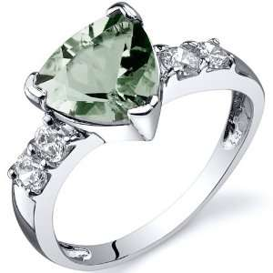 Solitaire Style 1.50 carats Green Amethyst Cubic Zirconia Ring
