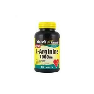 Arginine 1000 mg amino acid tablets   50 ea