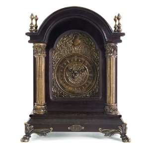 12 Detailed Antique Style Gold Columned Shelf Clock