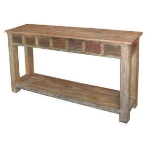 Classic Home Vintage Print Block Console Table   59911172