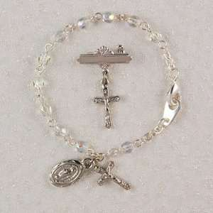 Baby Bracelet & Crucifix Pin Set, Boxed Childrens Girls Jewelry