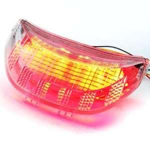 Lens Sport Street Bike Red Brake Stop Light Tail Light Turn Signal