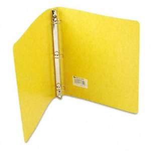 Recycled Presstex Round Ring Binder   1in Capacity, Yellow