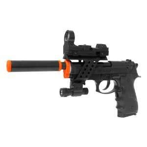 , Red Dot Sight, Flashlight, Blowback Airsoft Gun