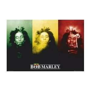 BOB MARLEY Flag Music Poster Home & Kitchen