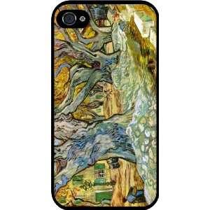 Van Gogh Art Roadman Rubber Black iphone Case (with bumper) Cover