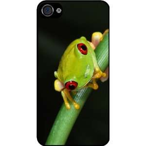 Macro Frog on Branch Rubber Black iphone Case (with bumper) Cover