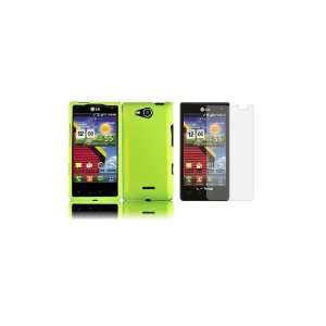Lucid (Verizon) Premium Combo Pack   Neon Green Hard Shield Case Cover