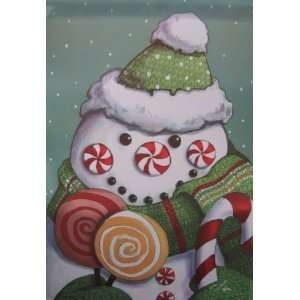 Sweet Tooth Snowman Candy Cane Mini Flag Patio, Lawn