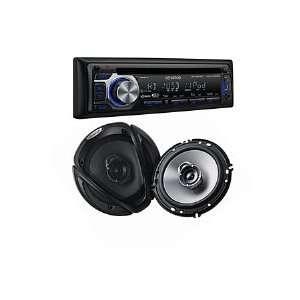 Kenwood CD Receiver w/ 6.5 Speaker PKG500 Bundle Car Elecronics