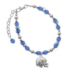 Small Blue Czech Glass Beaded Charm Bracelet [Jewelry] Jewelry