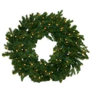 Fir Artificial Prelit Christmas Wreath with 100 Clear
