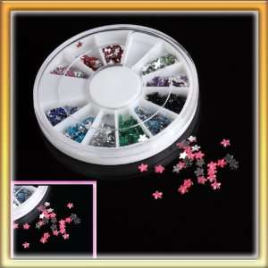 com 5 Permium Nail Art Glitter Tips Rhinestones with Different Colors
