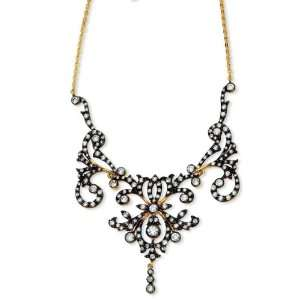 Silver Gold Plated Cubic Zirconia Necklace 17 Arts, Crafts & Sewing
