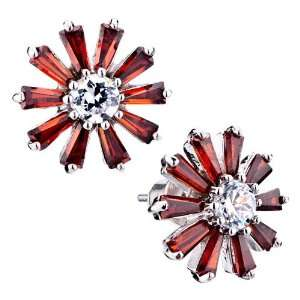 Pugster Mothers Day Gifts Mom Earrings Red Daisy Crystal