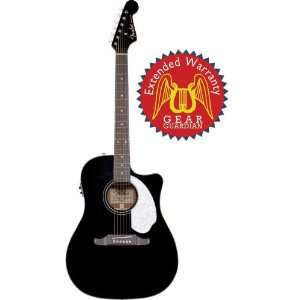 Acoustic Electric Guitar with Gear Guardian Extended Warranty   Black