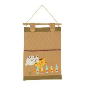 Cats] Ivory/Wall Hanging/ Wall Organizers/Wall Pocket/Basket/Wall