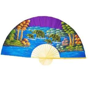 Hand Painted Fan J F 4 35 Home & Kitchen