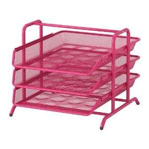 Ikea Dokument File Desk Organizer Pink Trays Steel