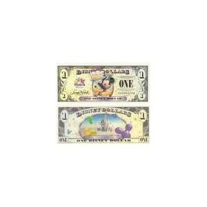 2009 ONE DOLLAR Walt Disney Dollars Mickey Mouse & Pluto CELEBRATION