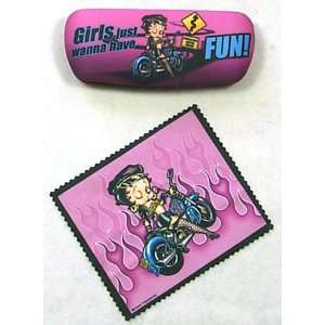 Betty Boop Biker Eyeglass Case Cell Phones & Accessories