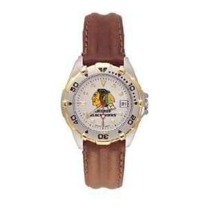 All Star Ladies Black Leather Strap Watch