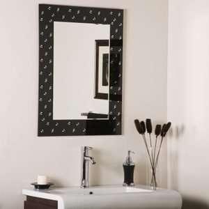 Musical Note Rectangular Frameless Wall Mirror