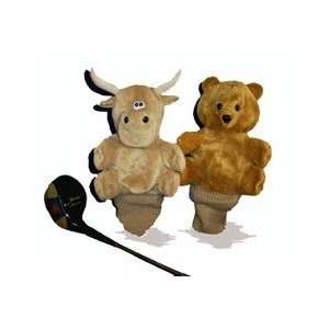 S2092    7 Reversible Bull/Bear Golf Club Cover  Tan Toys & Games