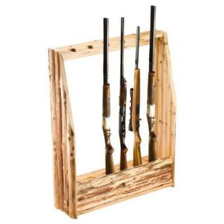 Rush Creek Log Cabin Style Gun Rack with Storage Sports & Outdoors