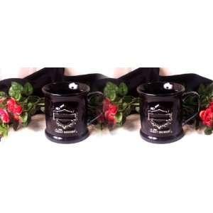 Black Harley Davidson Mugs Set of 2