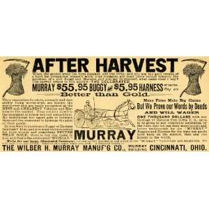 1892 Ad Wilber H. Murray Antique Horse Buggy Harness