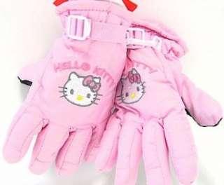 Hello Kitty Toddler Girls Light Pink Ski Gloves Clothing