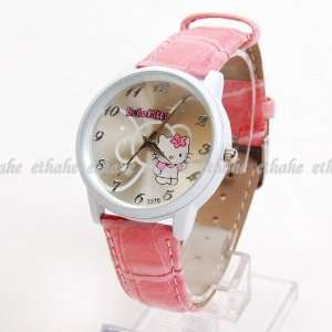 Hello Kitty Large Face Wristwatch Wrist Watch Rose Toys