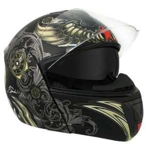 Dual Visor Modular Motorcycle Helmet with Blinc Bluetooth Automotive