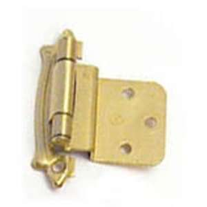 Inset Self Closing Cabinet Door Hinge Sterling Brass