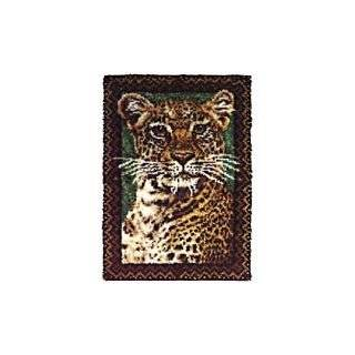 22x44 Latch Hook Kit: Prowling Tiger: Arts, Crafts