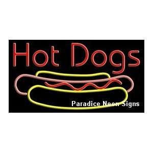 Hot Dogs Neon Sign 20 x 37 Sports & Outdoors