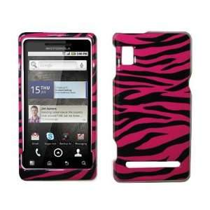 Hot Pink Zebra Skin Design Hard Cover Crystal Case for
