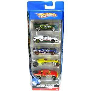 Hot Wheels 5 Car Gift Pack   World Racers Toys & Games